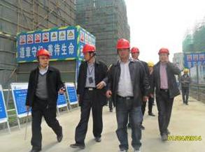 省住建厅专家指导我司国优工程创建情况